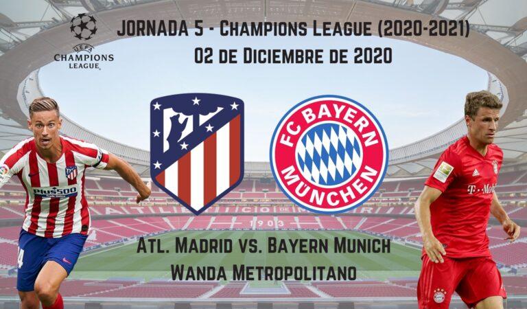Atl. Madrid vs. Bayern Münich (01 dic)   Pronósticos deportivos para apostar en fútbol