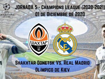 pronosticos deportivos shaktar real madrid champions transmisión en vivo online