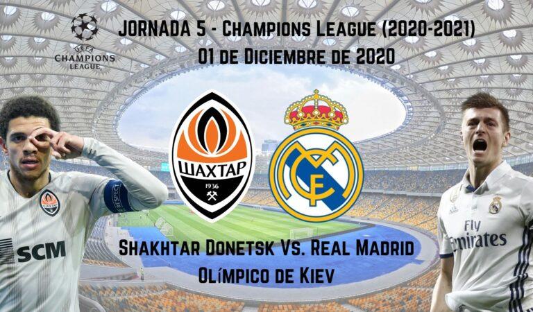 Shaktar vs. Real Madrid (01 dic)   Pronósticos deportivos para apostar en fútbol