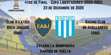 boca racing apostar copa libertadores 23/12/2020