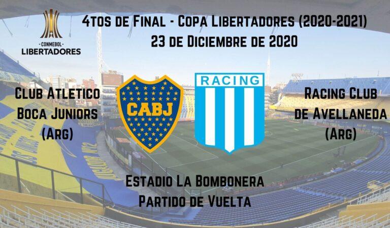 Boca Juniors vs. Racing (23 dic) | Apostar en Copa Libertadores