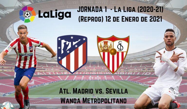 At. Madrid vs. Sevilla (12 ene) | Pronósticos deportivos en la Liga