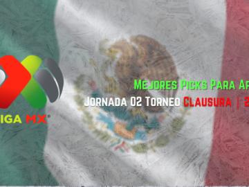 Casas de apuestas online Fútbol Mexicano Jornada 2