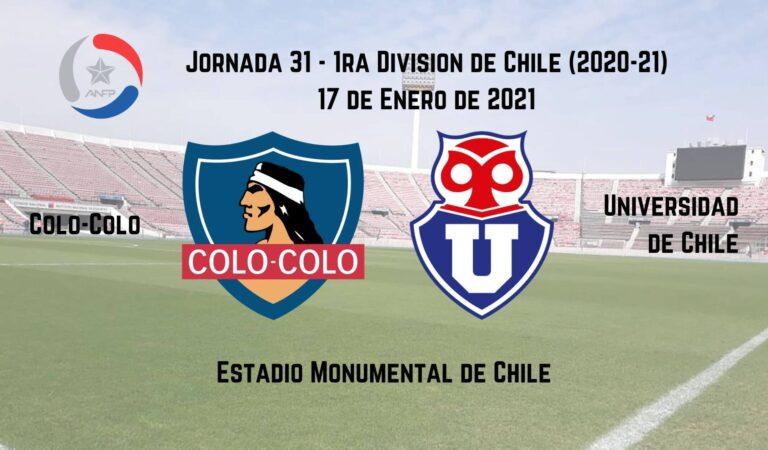 Colo-Colo vs. U. de Chile (17 ene)   Pronósticos deportivos en la 1ra División Chilena