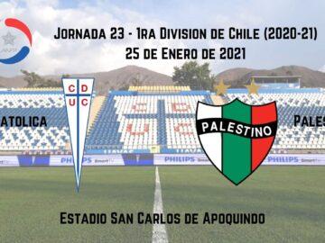 Apuestas deportivas U. Católica Palestino